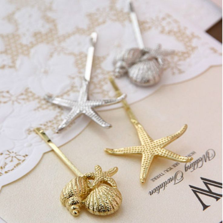 (single) 2016 New European And American Fashion Retro Female Metal Shells Starfish Hairpin Jewelry Wholesale