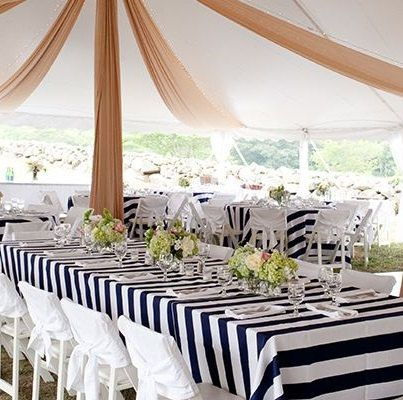 Buy Black/White STRIPE Tablecloth, Rectangle Tablecloth, Head Table, Guest  Tables, Part 49