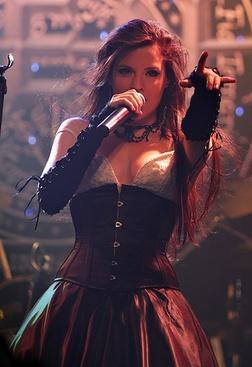 Ailyn Giménez of Sirenia. Sirenia is a metal band from Stavanger, Norway. http://astore.amazon.com/sirenia-20