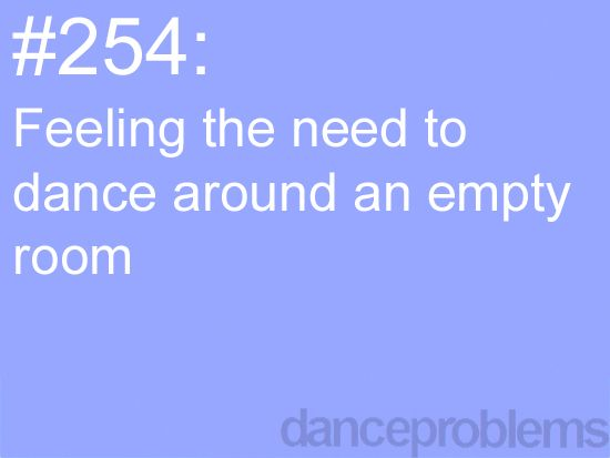 I often find myself in empty spaces wanting to use the space and full it with the hits of dance.