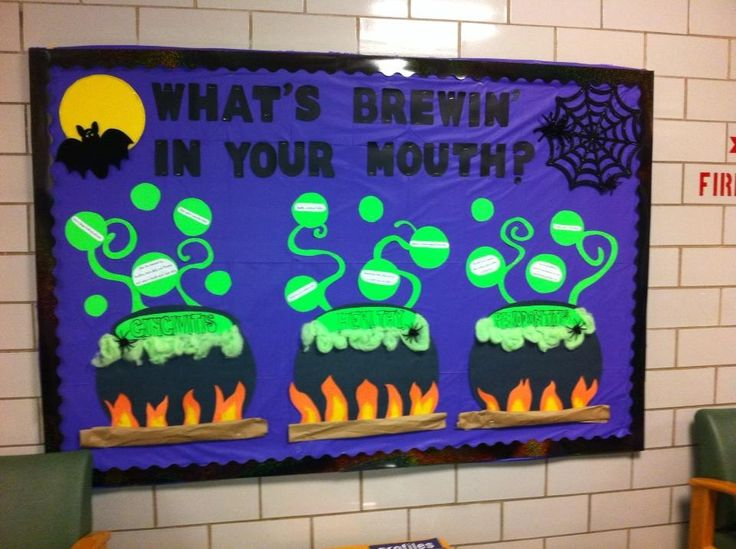 October Dental Board Classroom Bulletin Board Ideas