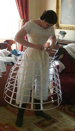 Corset and crinoline cage