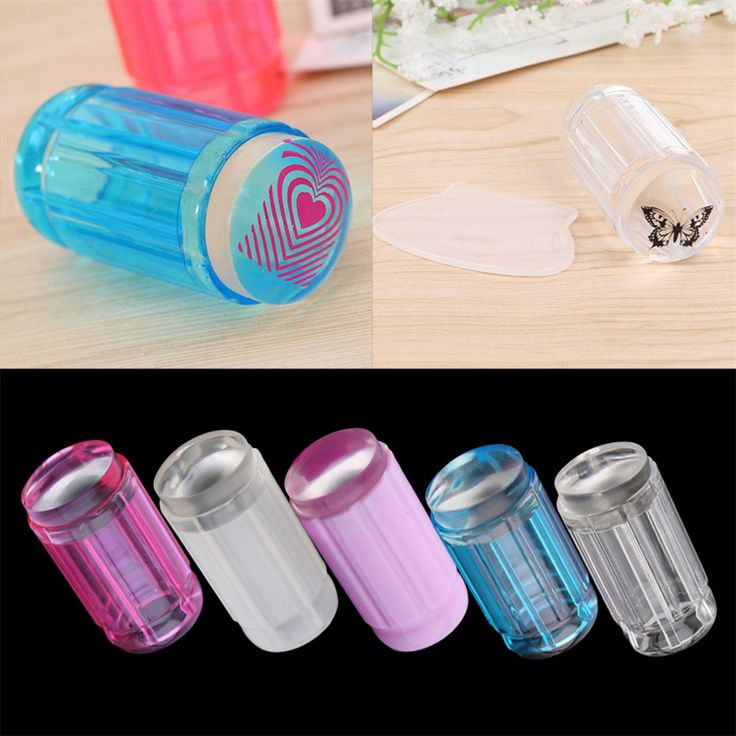 DIY Jelly Nail Art Stamping Clear Soft Silicone Stamper Scraper Plate Set Hot Selling