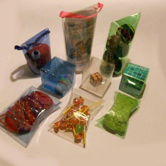 cajitas de botella de plástico