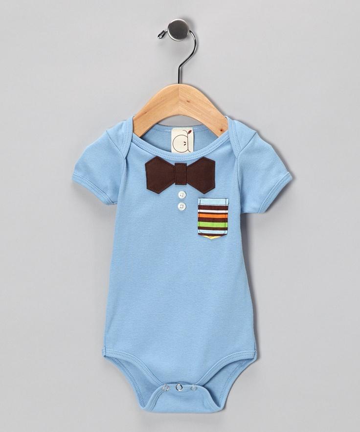 I can so DIY this.   Ana Apple Blue Nerd Alert Bodysuit - Infant