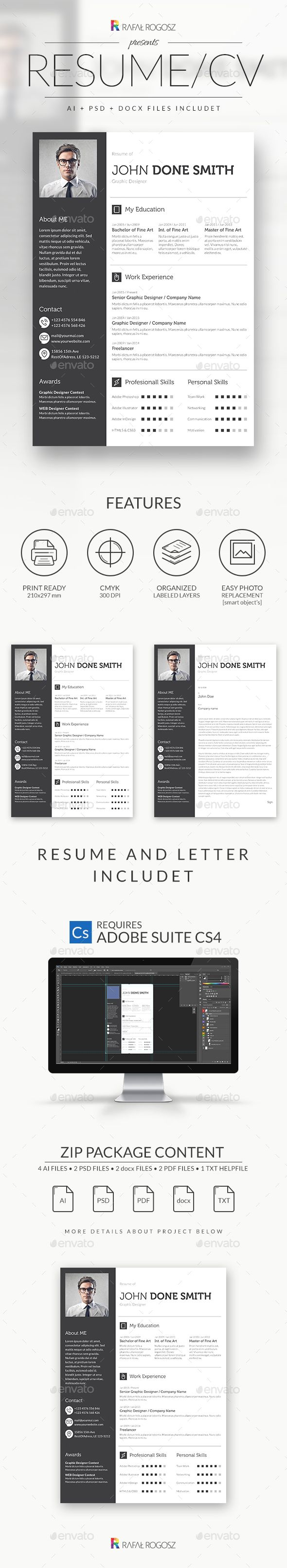 Resume Template PSD, AI, MS Word