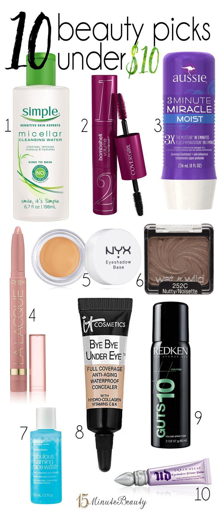 10 Beauty Picks Under $10