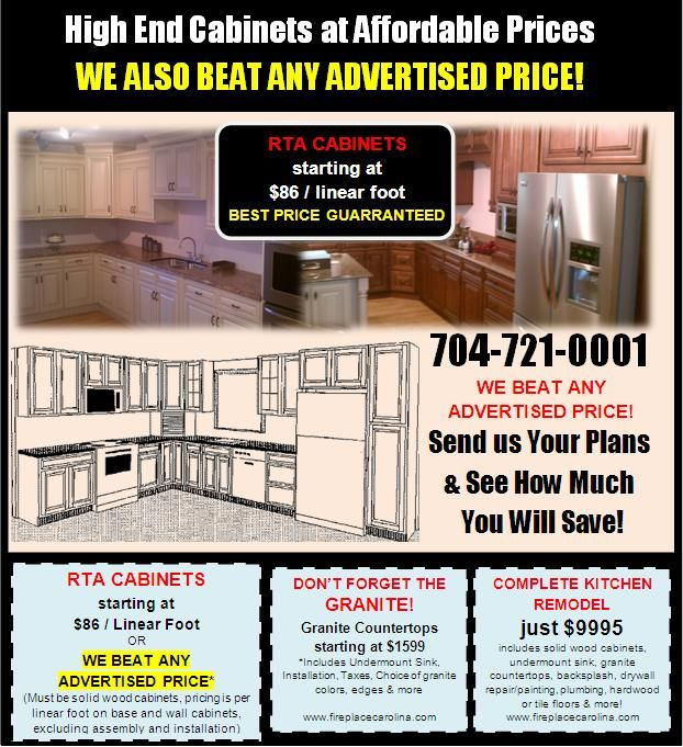 Our Famous Cabinets Flyer Http Www Fireplacecarolina