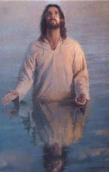 """Baptism of Jesus. """"At that time Jesus came from Nazareth in Galilee and was baptized by John in the Jordan. Just as Jesus was coming up out of the water, he saw heaven being torn open and the Spirit descending on him like a dove. And a voice came from heaven: 'You are my Son, whom I love; with you I am well pleased.'"""" Mark 1:9-11"""
