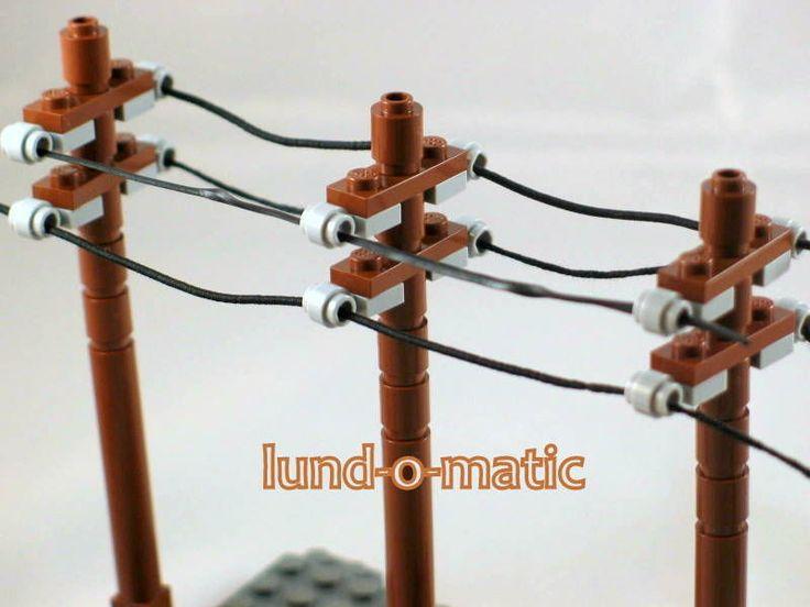 10 NEW Lego Custom City Lego Train Town Utility Poles New Parts Telephone Pole in Toys & Hobbies, Building Toys, LEGO | eBay