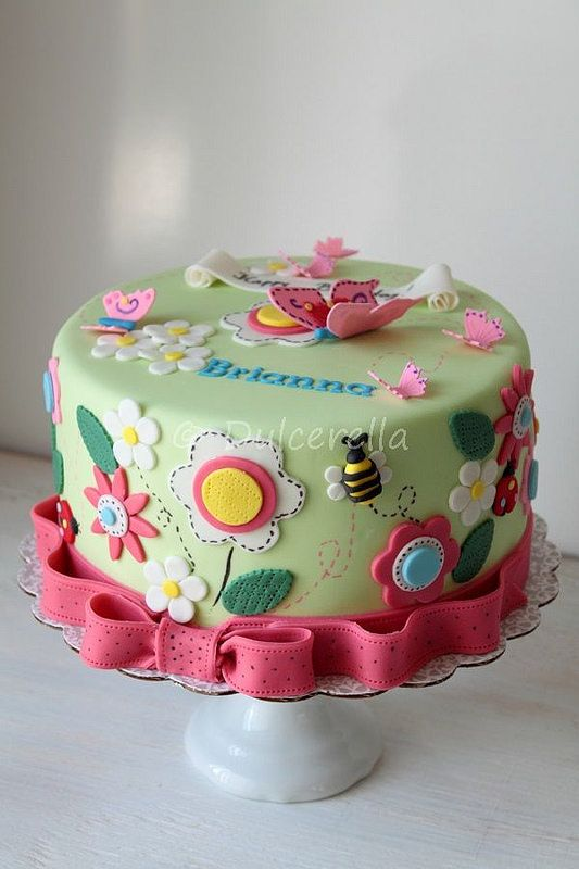 Flowers and butterflies Cake                                                                                                                                                     More