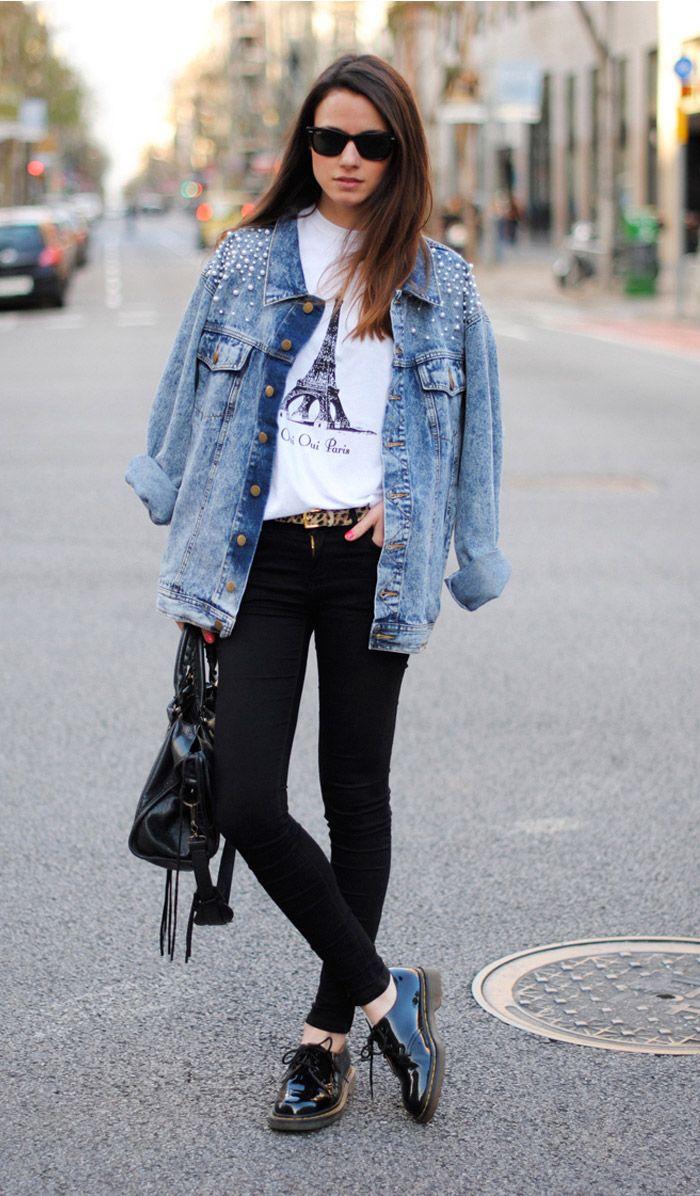 Pretty / Tough. #prettytough #urbanoutfitters: Fashion, T Shirt, Street Style, Outfit, Jeans, Jean Jackets, Street Styles, Denim Jackets, Denim Jacket