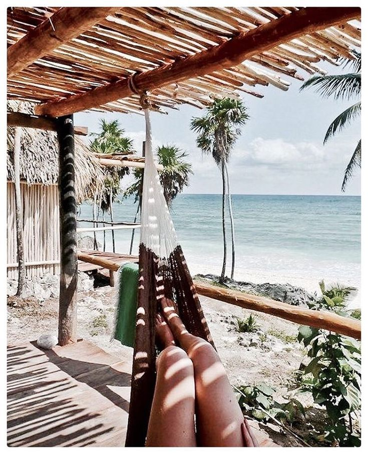 ... ♥ ... travel hammock beach sea #yestravel
