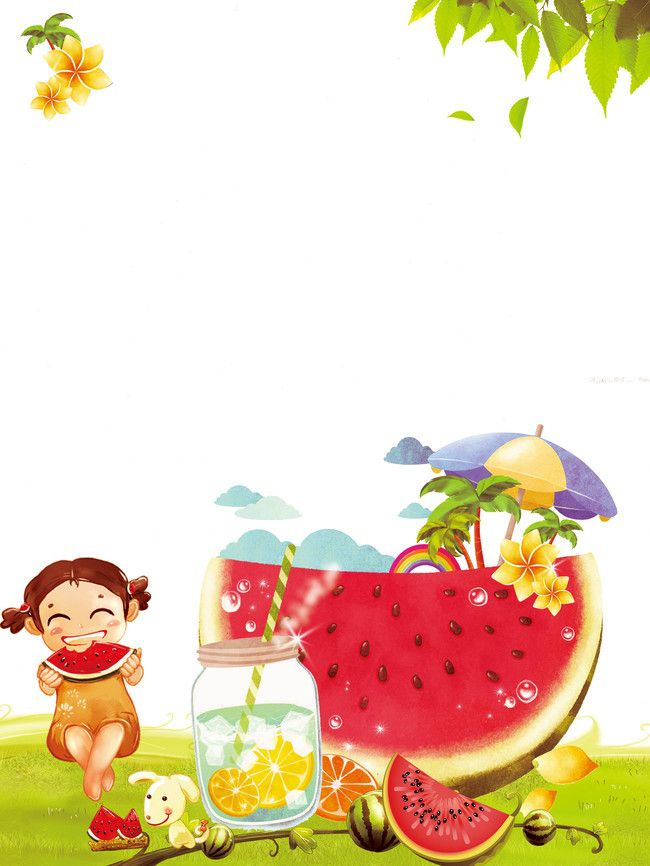 Frais en été cool boire le jus de melon affiche, Affiche Créative, L'été De Promotion Des Affiches, Un Poster, l'image de fond