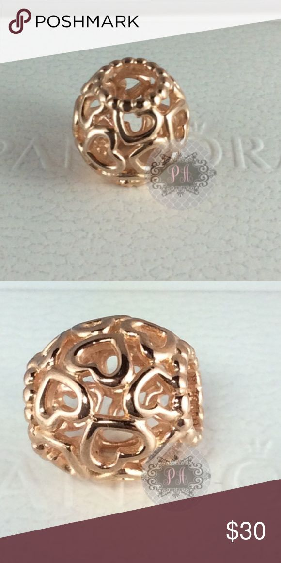 New Pandora Open Your Heart Filigree Rose Gold Authentic Pandora Open  You Heart Filigree Rose Gold Charm #780964  Pandora Charms. Pandora New Charms. Pandora Retired Charms. Pandora Bracelets.  Signature markings Ale R 925  Condition: New   🔵PRICE IS FIRM UNLESS BUNDLED  ⚫️NOT ACCEPTING LOWBALL OFFERS!!! Pandora Jewelry Bracelets