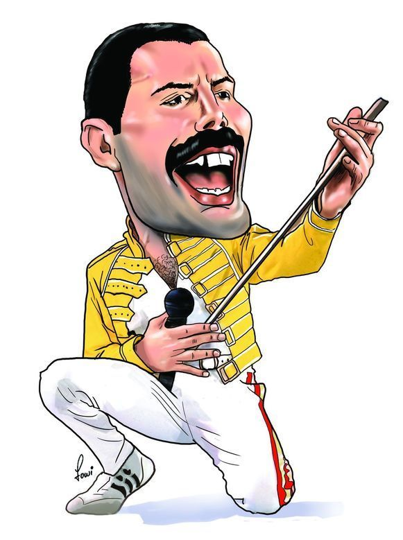 Image Result For Freddie Mercury Cartoon Freddie Mercury