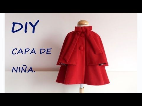 Como hacer una Capa de niña. Do it yourself sewing children. - YouTube