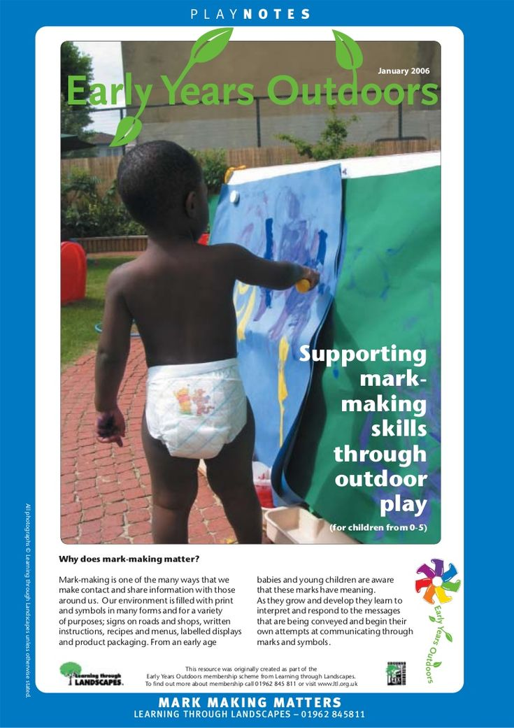 supporting-mark-making-skills-through-outdoor-play-early-years-outdoors-learning by BenBeckers via Slideshare