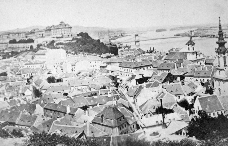 Tabán district, Buda (Budapest) circa 1900