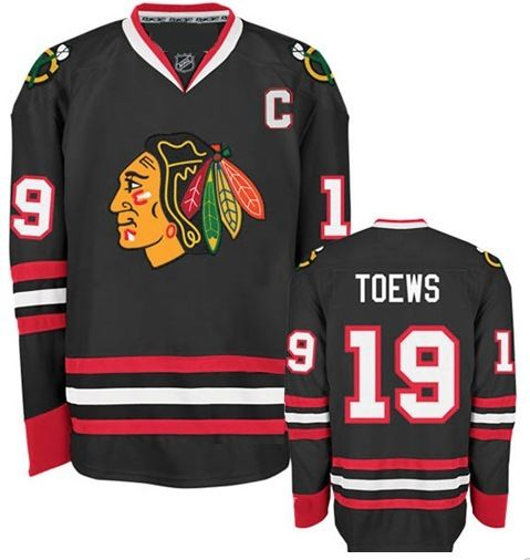 chicago blackhawks mens jonathan toews premier black With authentic jersey lettering