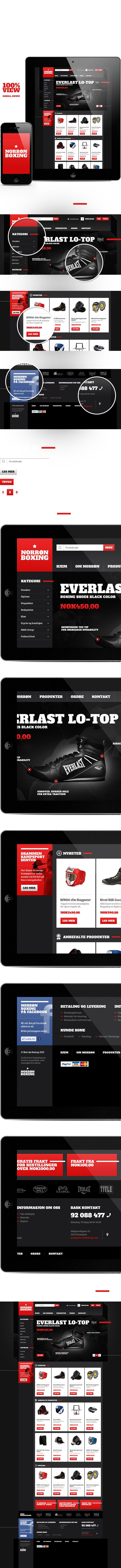 Norrøn Boxing Shop on #Behance #webdesign