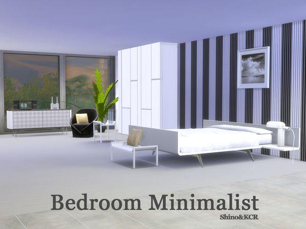 Bedroom minimalist by shinokcr at tsr sims 4 updates for Minimalist bedroom pinterest