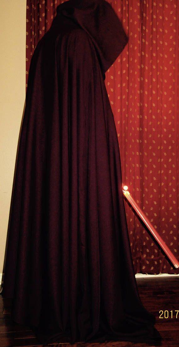 Bourgondië kleur mantel volledige cirkel mantel ~ JediRobes Bourgondië mantel Capes Hooded Cloak ~ middeleeuwse mantel aangepaste maken lange mantel. Vampire Capes met kap, Maroon Capes ~ aangepaste maken Capes voor alle leeftijden. Deze mantel is wol mix middelzwaar weefsel. Veel ruimte