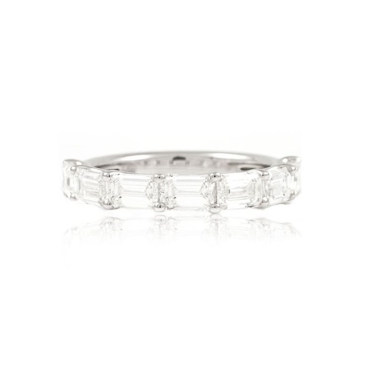 The Paul Sheeran Eternity ring collection | New Arrivals | Fabulous Seven Stone Emerald Cut Diamond Eternity Ring.