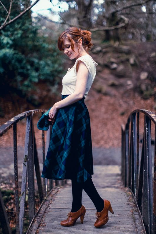 Ireland style: tartan, leather + lace :) The Clothes Horse