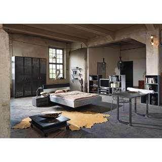 Inspirational Schlafzimmer Jugendzimmer Set LOFTE Industrial Print Optik graphit