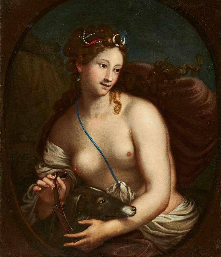 Deutscher Meister des 18. JahrhundertsDiana Öl auf Leinwand (doubliert). 90 x 74 cm.ProvenienzRhein