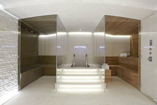 Steam Room, Sauna, minus Plunge Pool add Jacuzzi tub.