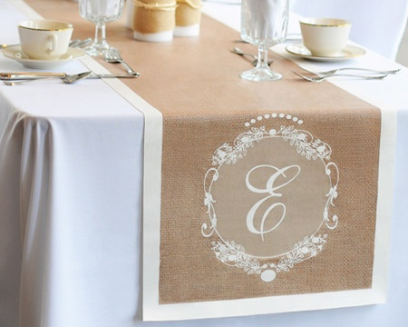Image detail for personalized country chic decorative for 120 inches table runner
