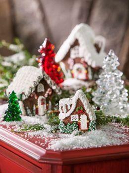 I like the miniature gingerbread houses