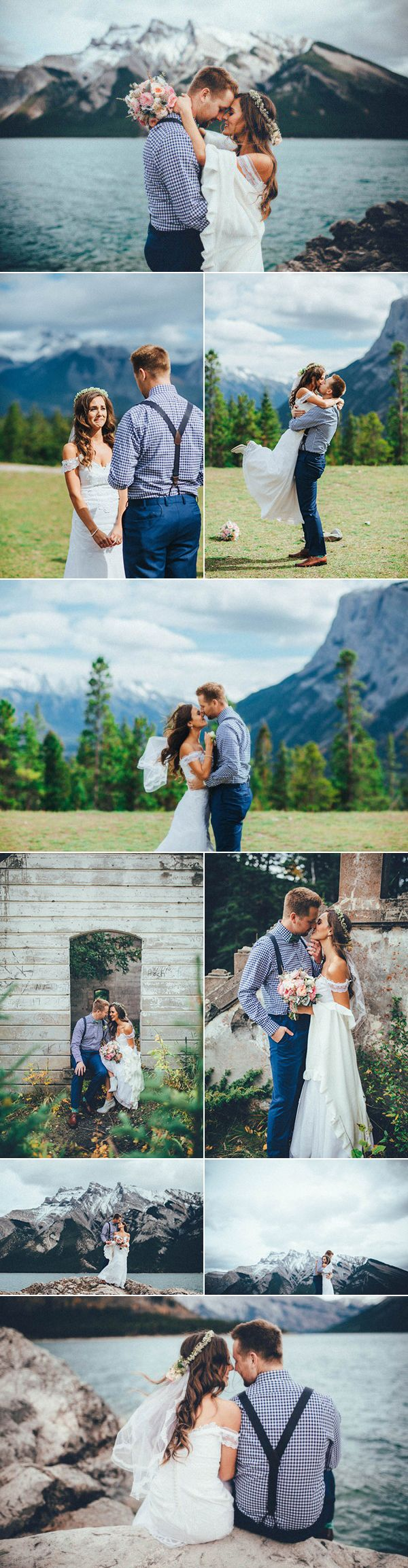 We're a sucker for anything in Banff, especially this elopement captured by  Tricia Victoria Photography,