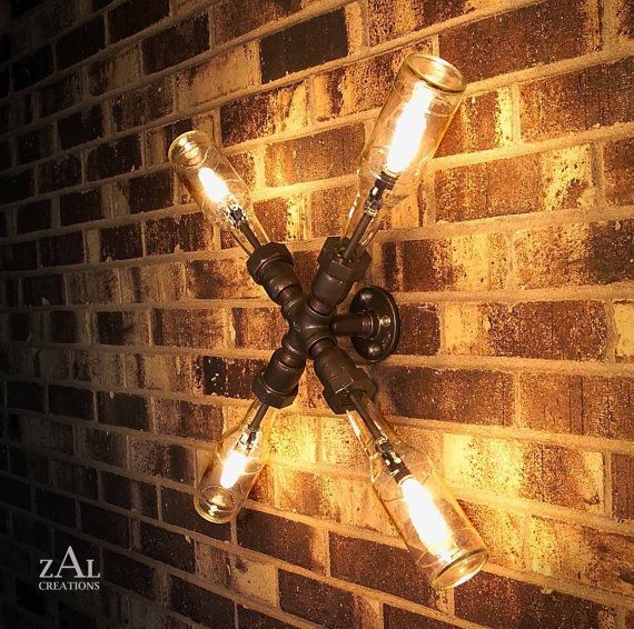 industrial beer lighting fixture. thought it be cool for the man cave, but it's actually cool enough that I'd consider the living room.