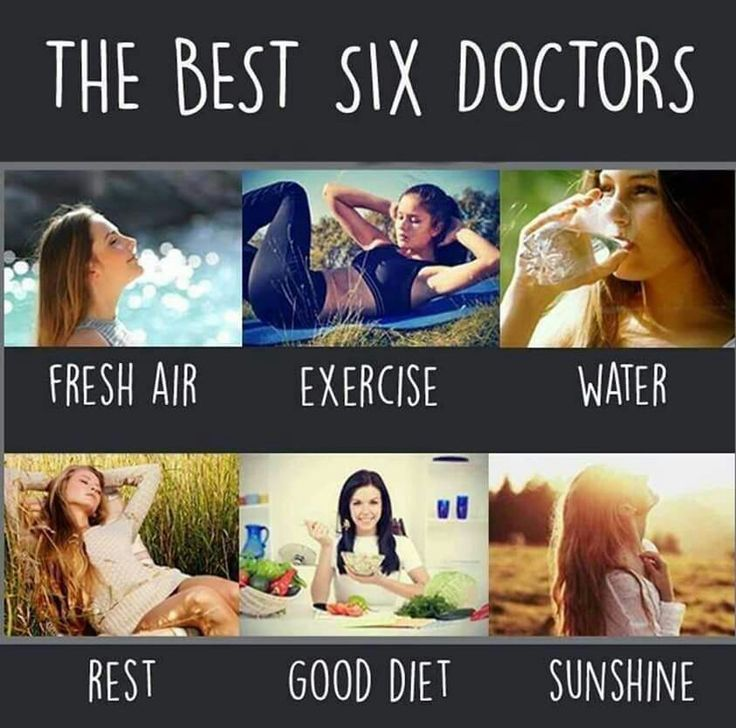 The six best doctors: fresh air, exercise, water, rest, good diet and sunshine #health