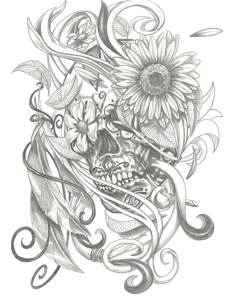 Sugar skull/sunflower