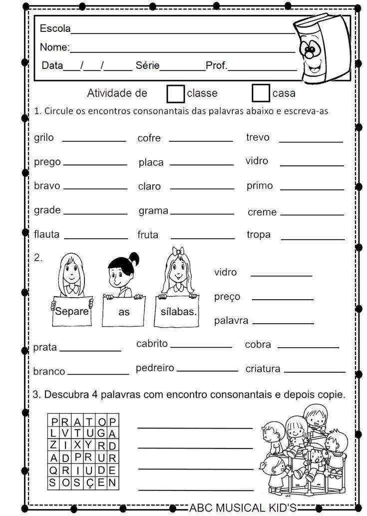 ATIVIDADES DE EDUCAÇÃO INFANTIL  E MUSICALIZAÇÃO INFANTIL: ATIVIDADE DE PORTUGUÊS 2° ANO
