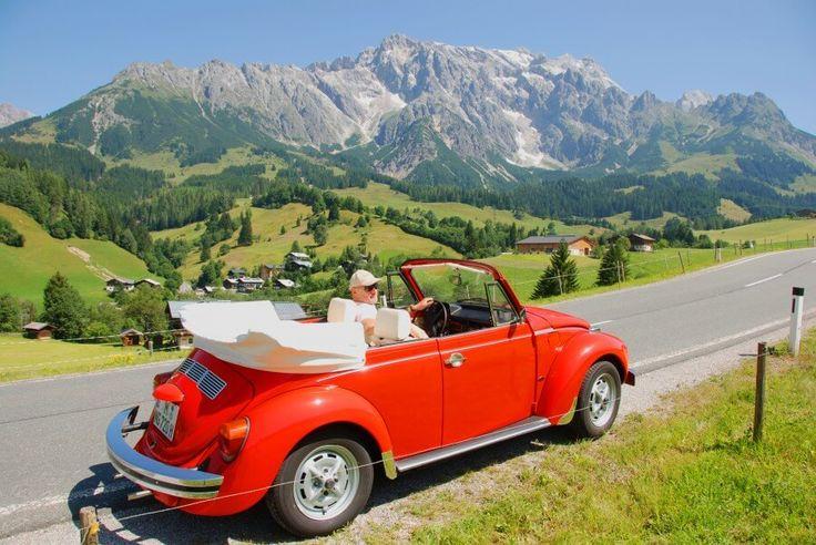 VW Käfer Cabrio 1303 Alpen | Nostalgic Oldtimerreisen