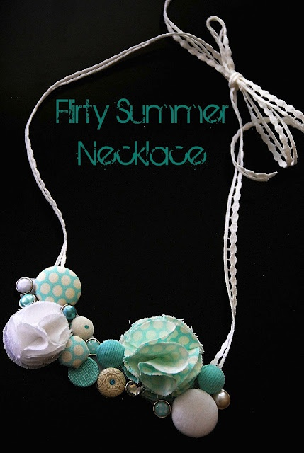 summer button necklace: Craft, Button Necklace, Diy Jewelry, Summer Necklace, Buttons, Necklaces, Necklace Tutorial