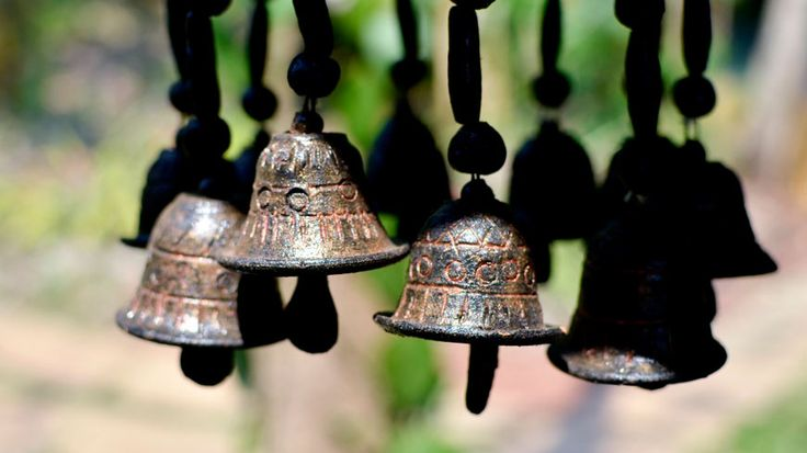 Antique bells at Wildflower Villas, north Goa. To book or enquire: https://www.tripzuki.com/hotels/vivenda-dos-palhacos-goa/