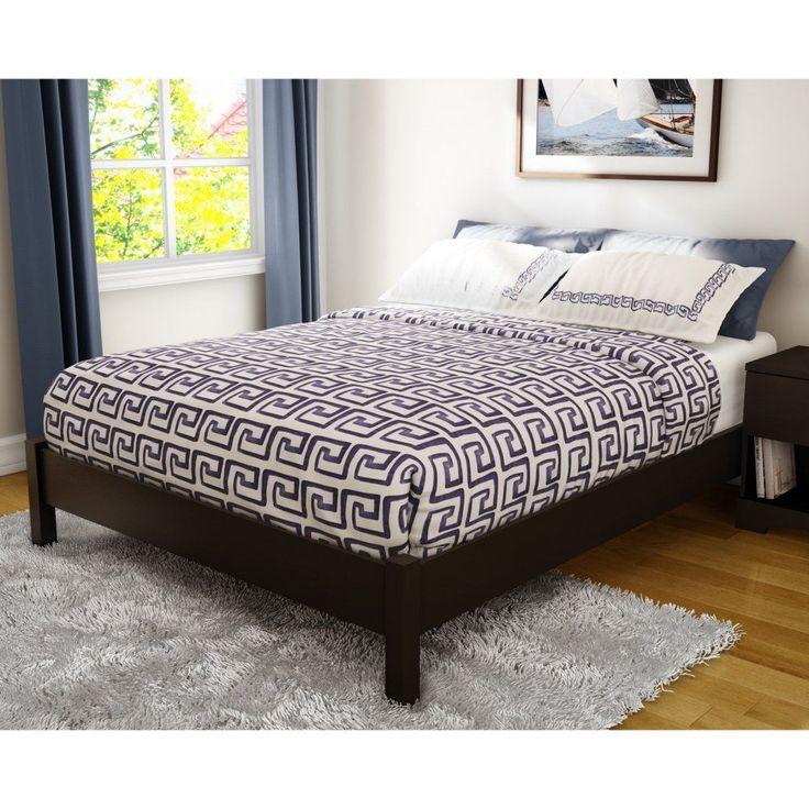 Sandbox Platform Bed, Brown, Queen #SouthShore