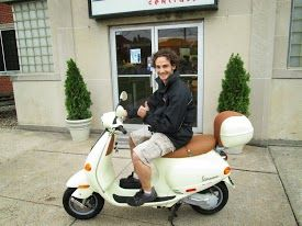 Congratulations to Steve C. who scored this sweet used Vespa ET2 50cc scooter.  Ride safe & often!