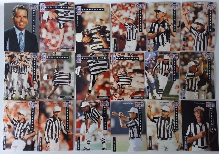 1991 Pro Set Series 1 NFL Officials Referee Team Set 18 Football Cards #OfficialsReferee