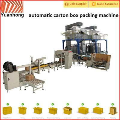 Automatic Packing Line For Industry Automation in the future: Automatic bag into box packing line