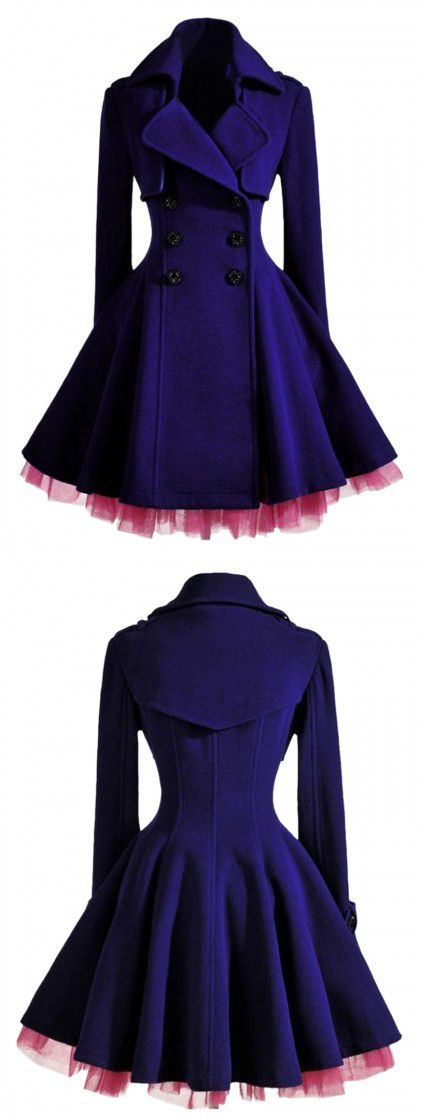 Double Breast Coat In Purple but I would get rid of the tulle. Major Sherlock vibes coming off this coat