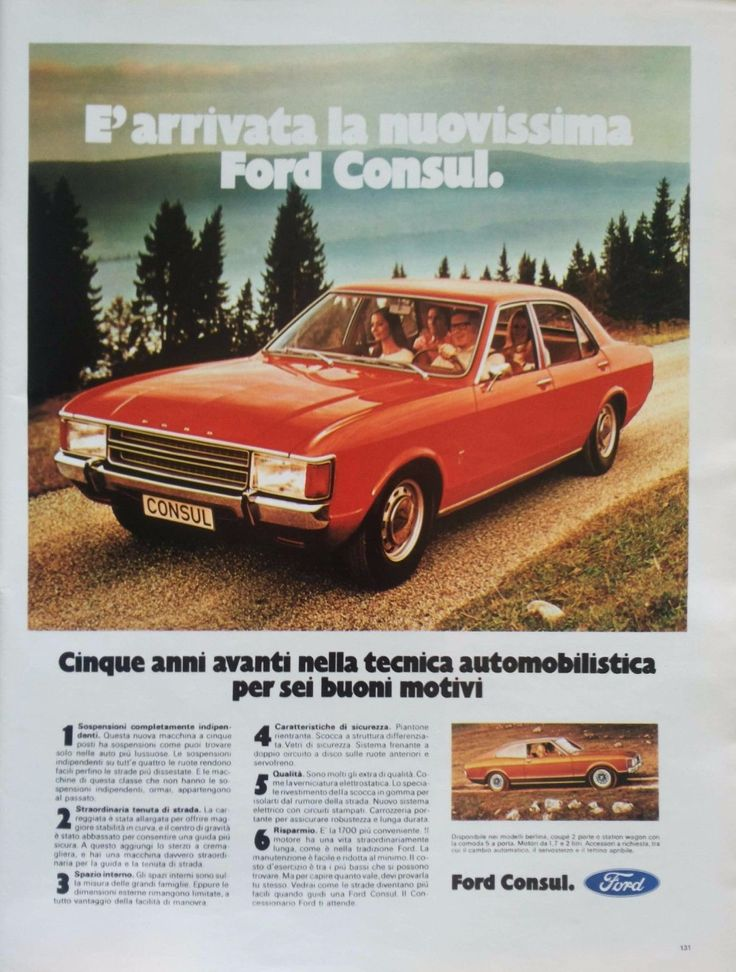 Pubblicità d'epoca Old advertising FORD CONSUL vettura auto vintage vecchia | eBay