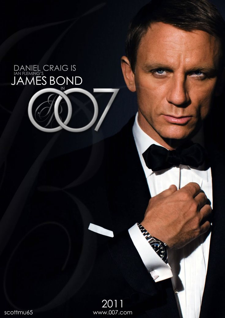 Daniel Craig is my favorite James Bond as in Casino Royale, Quantum of Solace, and Skyfall!