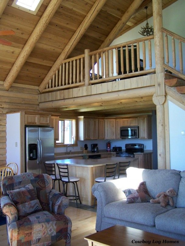 Log Home S Kitchen And Great Room House Ideas Pinterest Logs